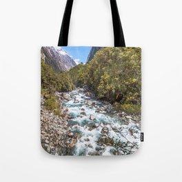 Untamed River, New Zealand Tote Bag