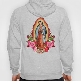 Our Lady of Guadalupe with roses Hoodie
