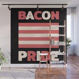 Bacon pride flag (Gay pride flag parody) Wall Mural