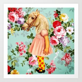 Pony Girl Art Print