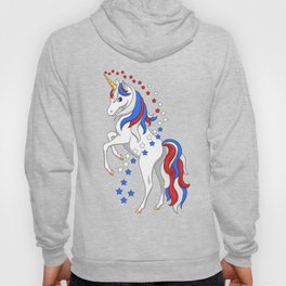 American Flag Stars and Stripes Unicorn Hoody