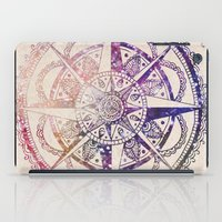 mandala iPad Cases featuring Voyager II by Jenndalyn
