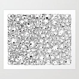 All-Over Skulls Art Print