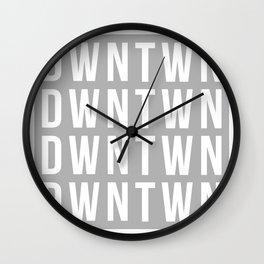 GREY BLOCK Wall Clock