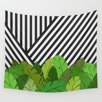 bianca green Wall Tapestries featuring Green Direction by Bianca Green
