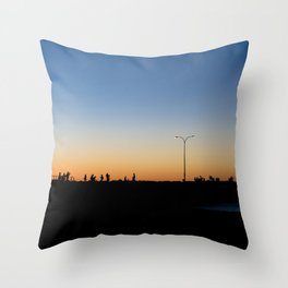 Sunsetting Silhouette Throw Pillow