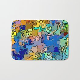 Abstract segmented 4 Bath Mat