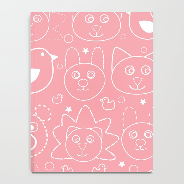 Baby Animals Coral Notebook