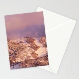 Rocky Mountain near the ski resort of Snowmass Village Colorado - Stationery Cards