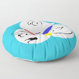 Charlie Brown, colour wheel Floor Pillow