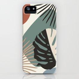 Minimal Yin Yang Monstera Fan Palm Finesse #1 #tropical #decor #art #society6 iPhone Case