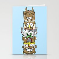 totem Stationery Cards featuring totem by ybalasiano