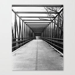 Bridge to Nowhere Black and White Photography Canvas Print