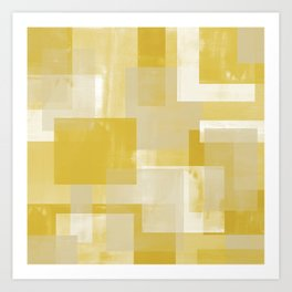 Modern Abstract No. 19 | Citron Art Print