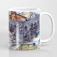 portugal Mugs featuring Buarcos, Portugal by Claire Nelson-Esch