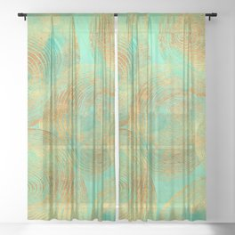 Jungle Theorem Abstract Sheer Curtain
