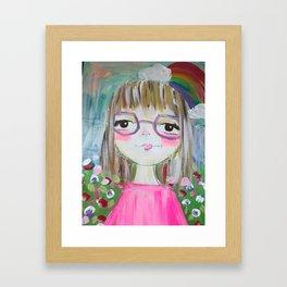 addy girl Framed Art Print