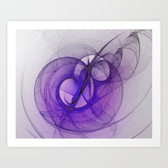 Mystery purple abstract fractal Art Print