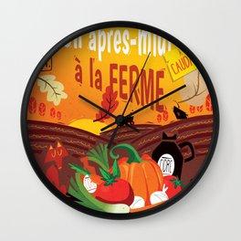 Un après-midi à la ferme : automne Wall Clock