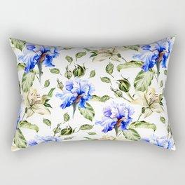 Irisis and lilies - flower pattern no3 Rectangular Pillow
