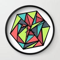 hexagon Wall Clocks featuring Hexagon by chrfahnestock