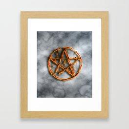 Supernatural devil's trap Framed Art Print