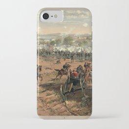 Civil War Battle of Gettysburg by Thure de Thulstrup (1887) iPhone Case