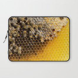 Honeycomb with bees Laptop Sleeve
