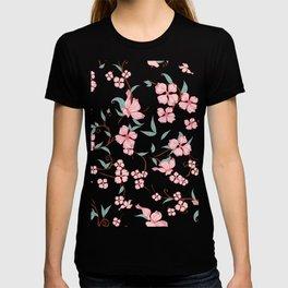 Creepy Flowers Pattern T-shirt