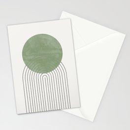 Green Sun Positive Vibe  Stationery Cards