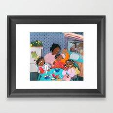Family Breakfast Framed Art Print