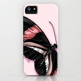 Papillon rouge et noir iPhone Case
