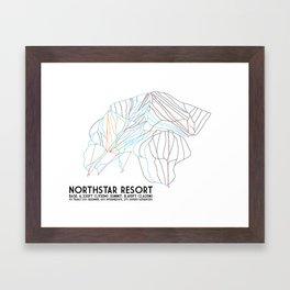 Northstar, CA - Minimalist Trail Maps Framed Art Print