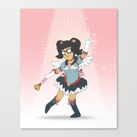 tina belcher Canvas Prints featuring Magical Tina Chan by Fatal Fruit