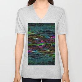 Evening Pond Rhapsody Abstract Unisex V-Neck