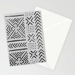 Line Mud Cloth // Light Grey Stationery Cards