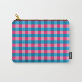 Pink and blue checks pattern Carry-All Pouch