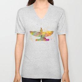 Egyptian goddess isis in watercolor Unisex V-Neck