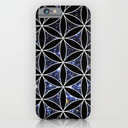 Flower of life in the space iPhone Case