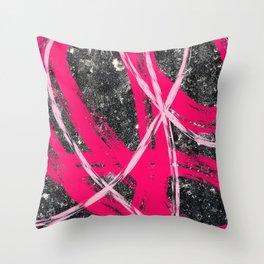 Pink Cadence II Throw Pillow