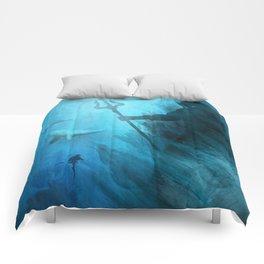 Scuba Diver meets Poseidon  Comforters