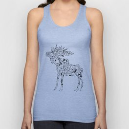Many shapes of the Moose Unisex Tank Top