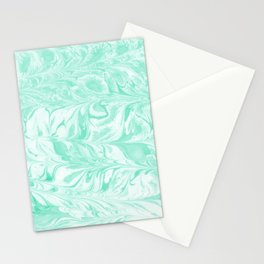 Umeko - spilled ink marble paper marbling art  painting abstract swirl water ocean landscape map Stationery Cards