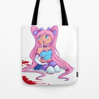 magical girl Tote Bags featuring Magical Girl by NatAliDenton