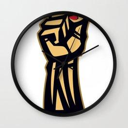 Future Is Female Empower Women Fist Wall Clock