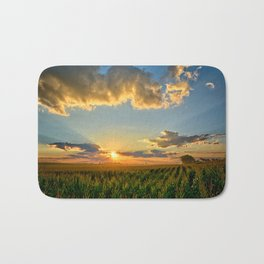 Iowa Corn Fields Bath Mat