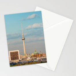 Berlin City Skyline - Cityscape and Tv Tower in Berlin, Germany Stationery Cards