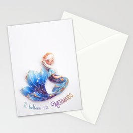 I believe in mermaids Stationery Cards