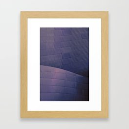 Architectural abstract of the home of the LA Philharmonic in blue and rose. Architect: Frank Gehry Framed Art Print