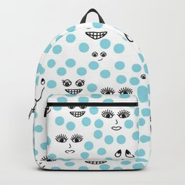 Dots and Smiles Blue Backpack